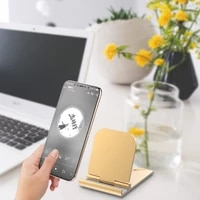 new metal desktop holder table cell foldable extend support desk mobile phone holder stand for iphone ipad adjustable
