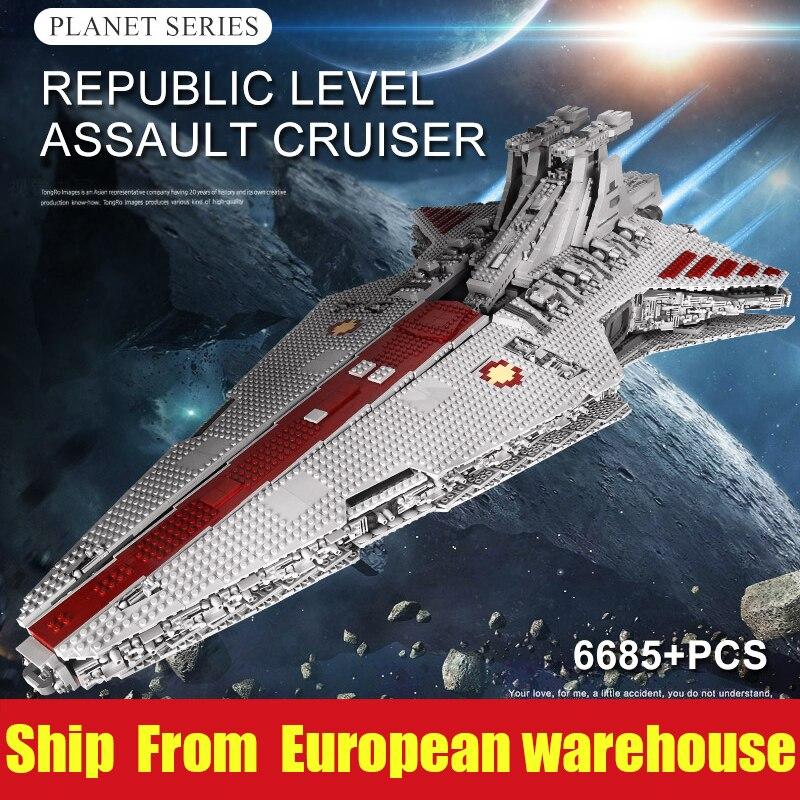 DHL 05077 Yeshin 21005 Star Model UCS ST04 Rupblic Cruiser Set Building Blocks Bricks Kids Toys Birthday Christmas Gifts