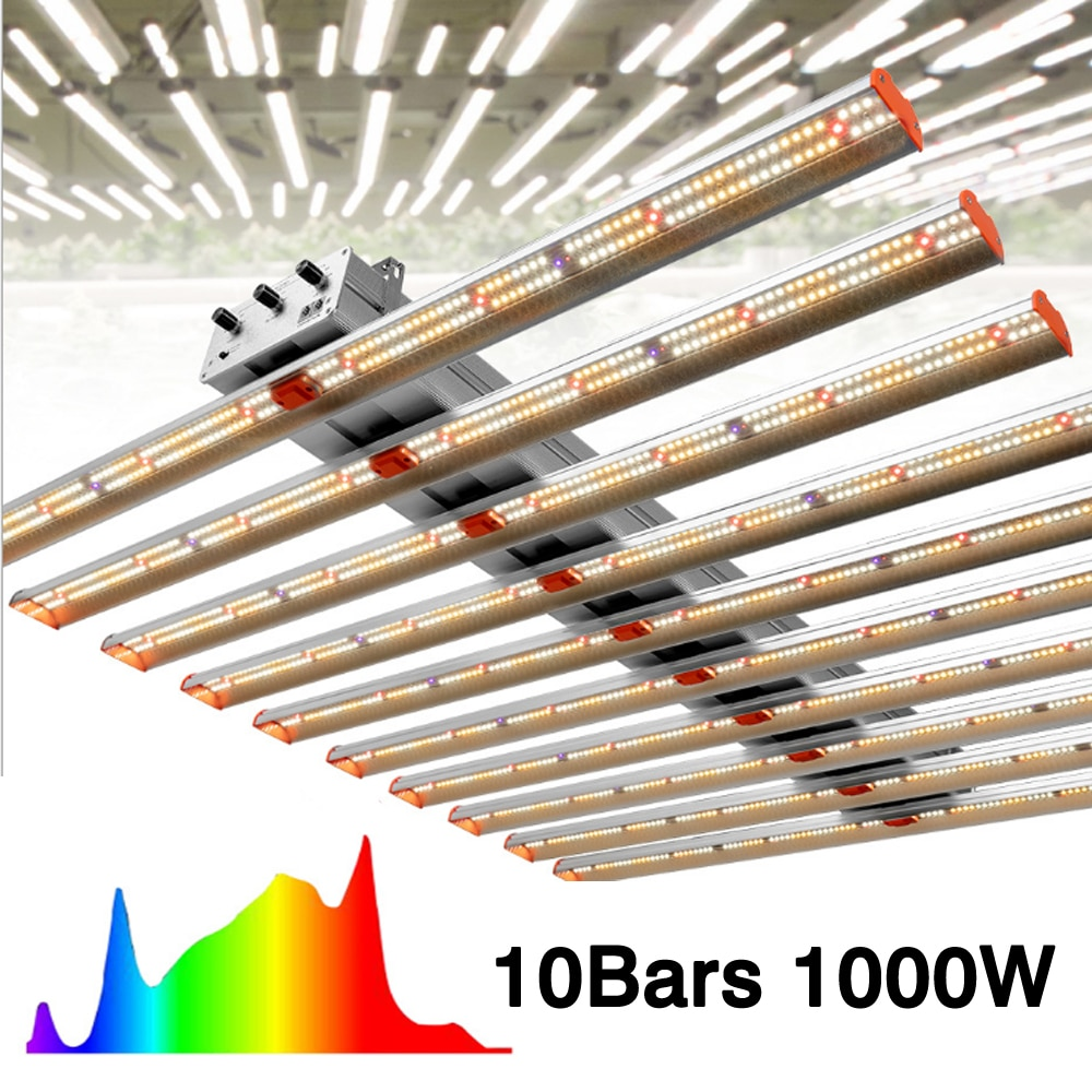 Superlight 800W 1000W Samsung LM301B LED Grow Light Bar Dimmable Full Spectrum Deep Red IR&UV For Greenhouse Farming Phytolamp enlarge