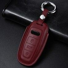 Étui de protection en cuir véritable fait à la main   De qualité, convient pour Audi A6 C8 A7 4KA A8 4N2 4N8 Q8 4MN, accessoires de style de voiture