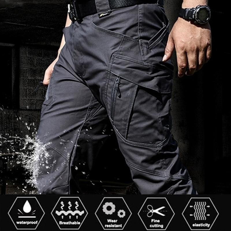Брюки-карго мужские тактические, эластичные уличные армейские штаны в стиле милитари, с несколькими карманами, водонепроницаемые износост...