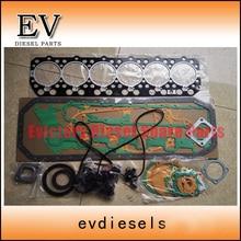 For Nissan FE6 Piston ring + gasket + clutch disc +bearing kit