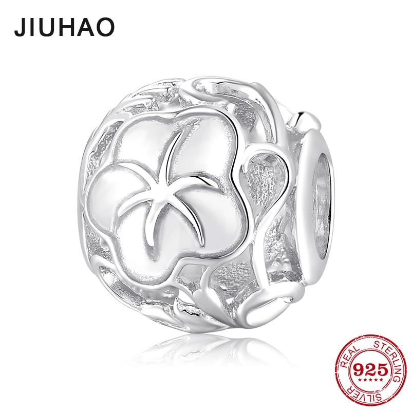 Moda 925 Sterling forma redonda plateada mañana glory patrón cuentas finas se ajustan Original Pandora encanto pulsera fabricación de joyería