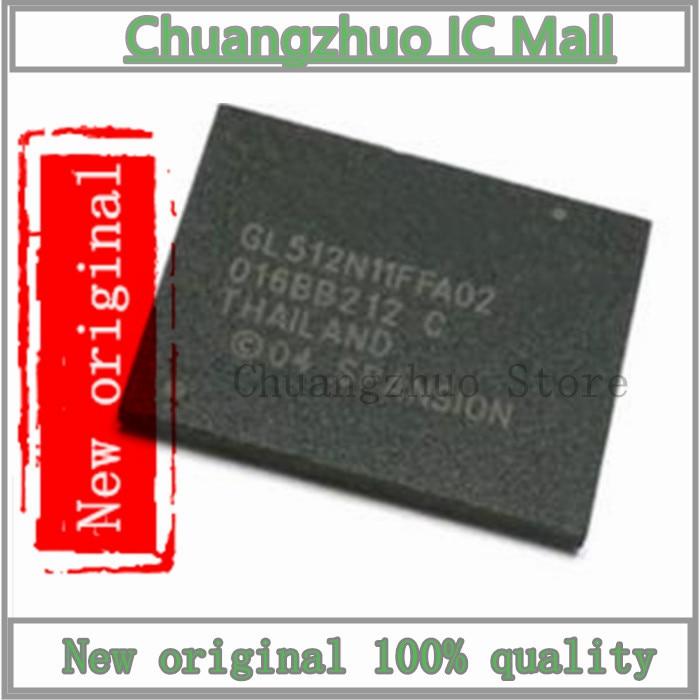 10 pçs/lote s29gl512n11ffa02 gl512n11ffa02 bga ic chip novo original