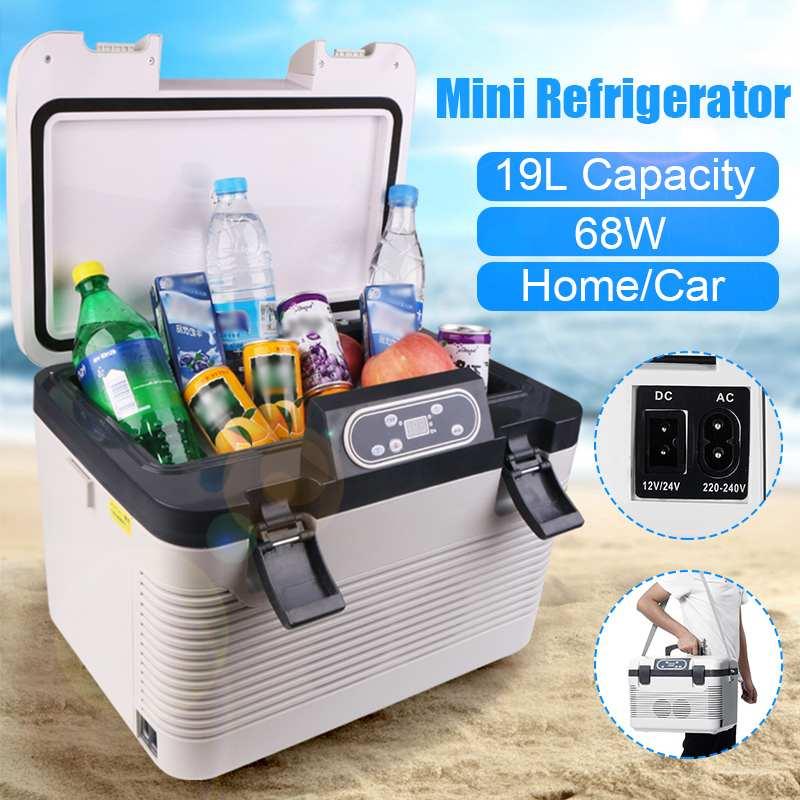 Refrigerador de coche 19L DC12-24V/AC220V compresor de nevera de calefacción de congelación UE/AU enchufe Calefacción de refrigeración de Picnic-5 ~ 65 grados