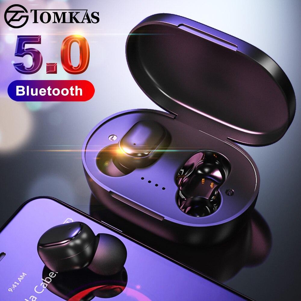 TWS Wireless Bluetooth Headsets Bluetooth 5.0 Earphones Earphones Waterproof Stereo Earbuds With Mic PK Mi Headphones Airdot TWS