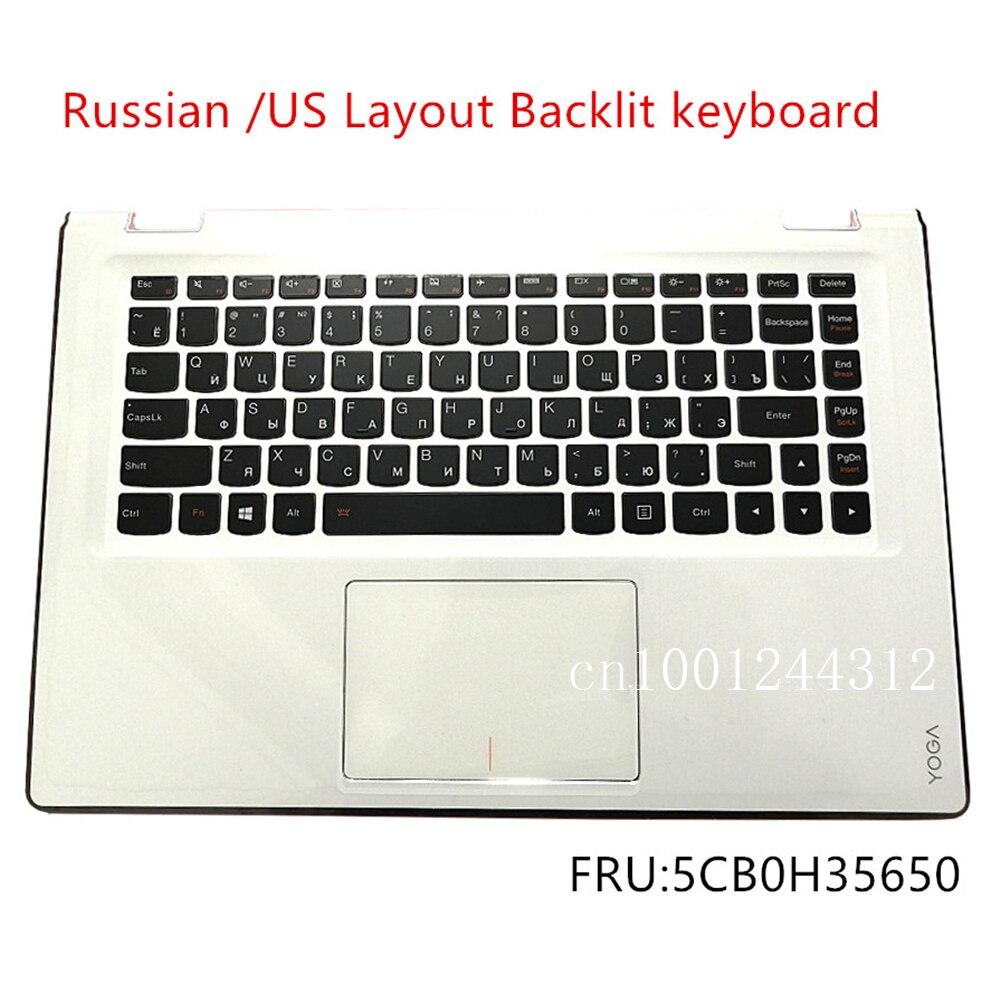 Nuevo Original ruso para Lenovo Yoga 3-14 3-1470 YOGA 700-14ISK carcasa superior del teclado cubierta del bisel almohadilla táctil 5CB0H35650