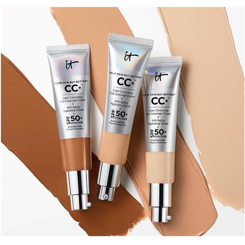 12 قطعة/الوحدة فإنه مستحضرات التجميل ذلك بشرتك ولكن أفضل CC + اللون تصحيح التغطية الكاملة كريم مكافحة الشيخوخة الترطيب مصل ماتي قاعدة