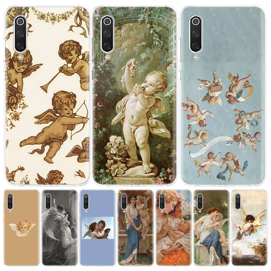 Angel Cupid Art Phone Case for Xiaomi Redmi Note 9S 8T 8 7 8A 7 7A 6A 4X S2 K20 K30 MI 9 8 CC9 F1 Pro Fashion Cover Capa