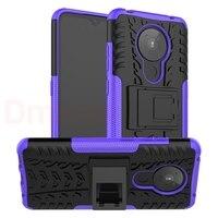 Для Nokia 5,3 7,2 6,2 4,2 3,2 2,3 1,3 2,1 7,1 6,1 5,1 плюс X7 X6 8,1 X5 противоударный силиконовый чехол с подставкой для телефона повышенной прочности с протекторным...