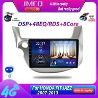 jmcq t10 2din car radio for honda fit jazz 2007 2013 multimedia video player gps navigaion carplay 8 cores dsp 48eq 4g head unit