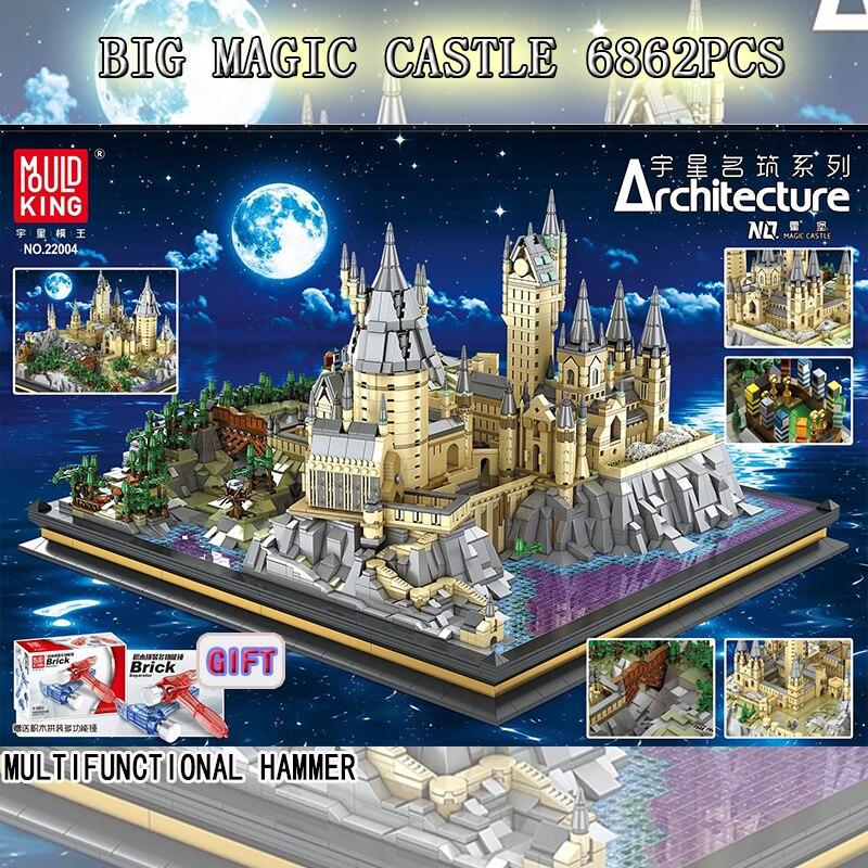 Serie de películas la escuela del castillo mágico de wizardry modelo Juguetes de bloques de construcción para niños Compatible con Lepining 16060 ladrillos
