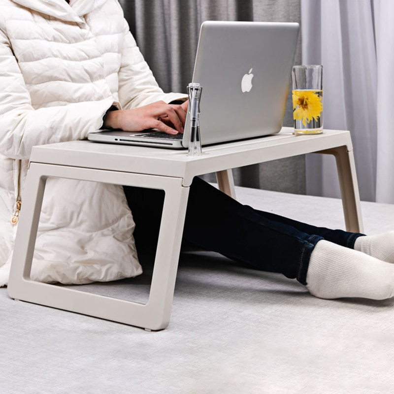 Ноутбук Кровать Tray Таблица, Регулируемый ноутбук Стенд, Портативный Lap Столы со складными ногами, ноутбук Постоянный завтрак Чтение стол дл...