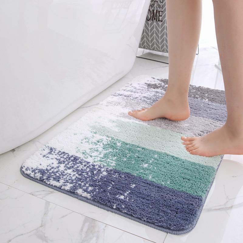 Non Slip Bath Mat Bathroom Carpet,Tapis Salle de Bain,Mat in the Bathroom Comfortable Bath Pad,Large Size Bedroom Rugs