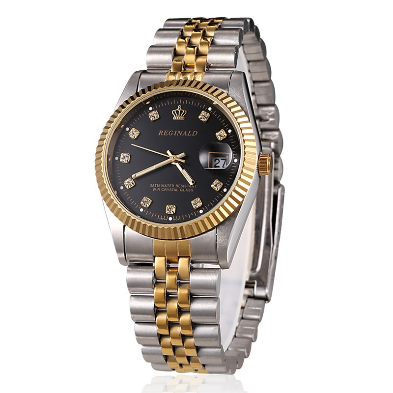 REGINALD Genuine Calendar Waterproof Steel Band Women Watch Retro Fashion Elegant Dress Water Diamond British Watches Ladies enlarge