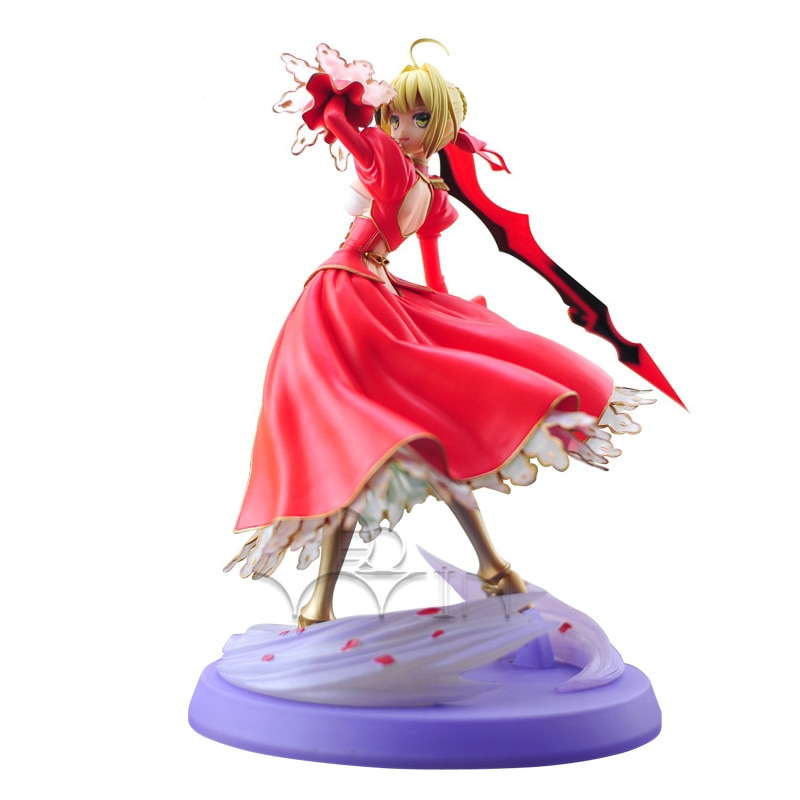 New Fate Stay Night Extra Red Saber Lily 1/8 Scale PVC Action Figure Figurine 23cm T30