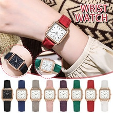 women Square leather belt watches Luminous Ladies fashion luxury Digital Watch clothing accessories