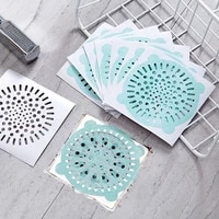 10pcs disposable bathroom sewer outfall sink drain hair strainer stopper filter sticker kitchen supplies anti blocking strainer