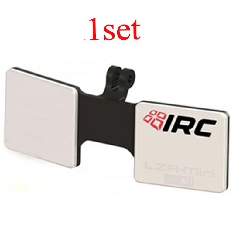 1 conjunto de 5.8ghz módulo lzr-mini injetado plástico antena montagem instalado rhcp 8dbi elementos de remendo com mmcx para sma cabos para rc fpv