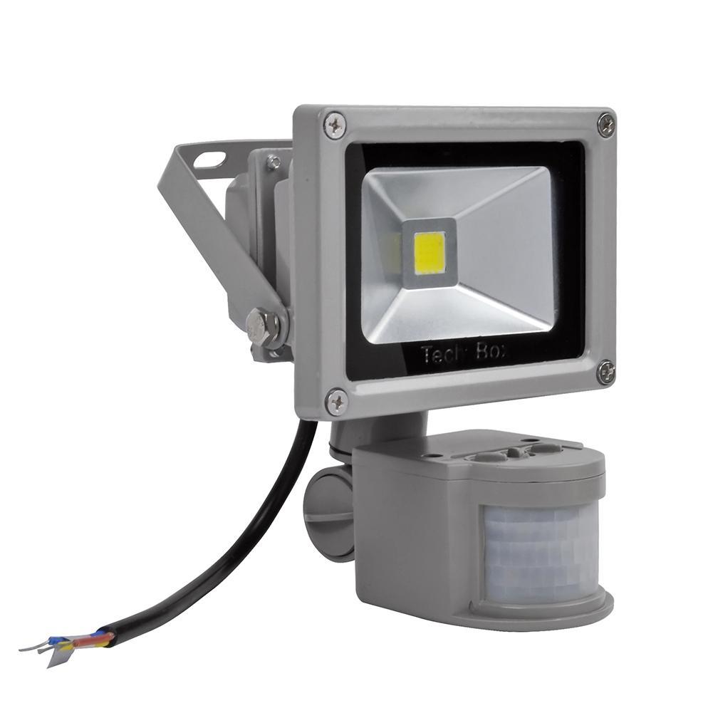 Reflector de luz COB de 10W 4 Uds., reflector con Sensor de movimiento PIR, reflector LED de luz de calle, proyector de luces para iluminación de jardín
