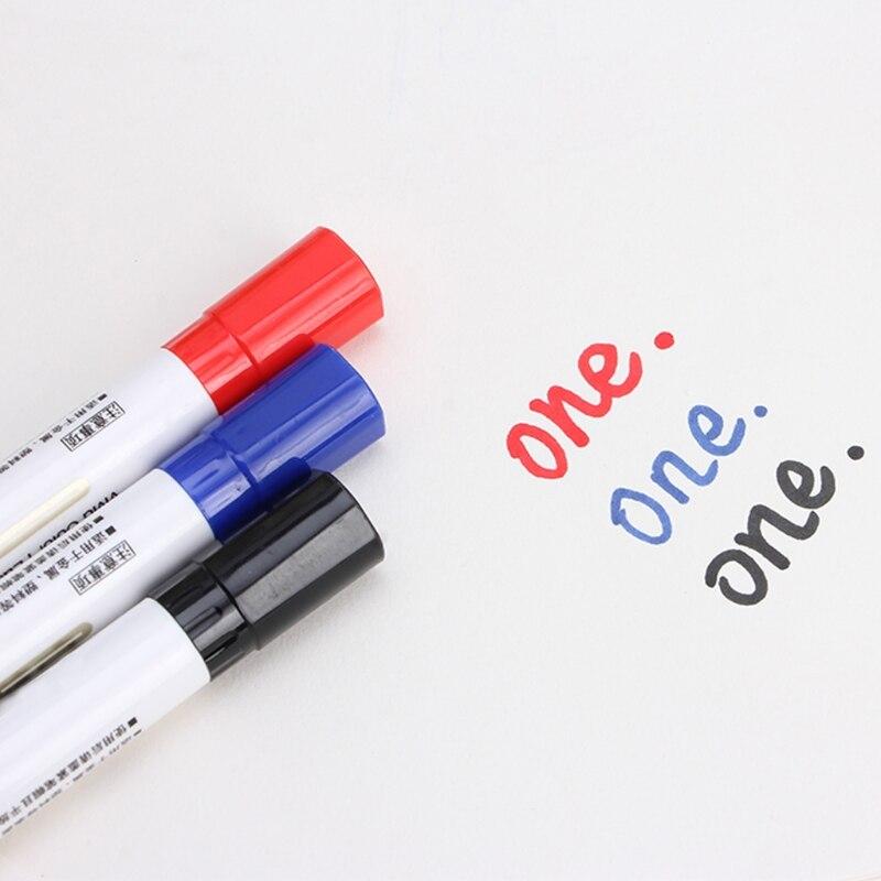 3 cores wipeable líquido giz janela de vidro marcador caneta loja ferramenta de decoração do carro