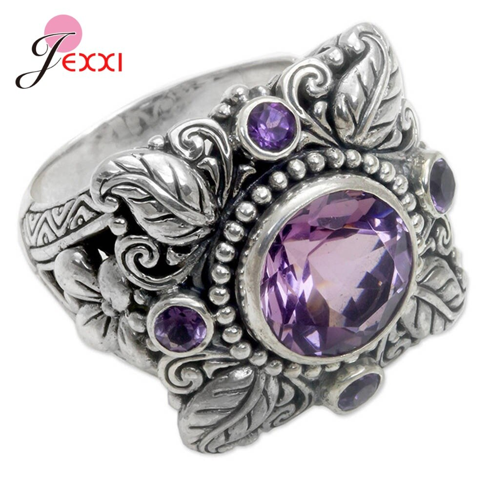 hoja-de-diseno-redondo-purpura-de-cristal-de-cz-compromiso-anillo-unisex-vintage-popular-caliente-de-plata-de-ley-925-joyeria-de-circonia-cubica