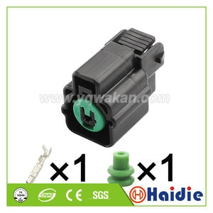 2sets 1pin Auto Air conditioning compressor cold air pump plug cable waterproof connector PN875-01880 HN126-01027