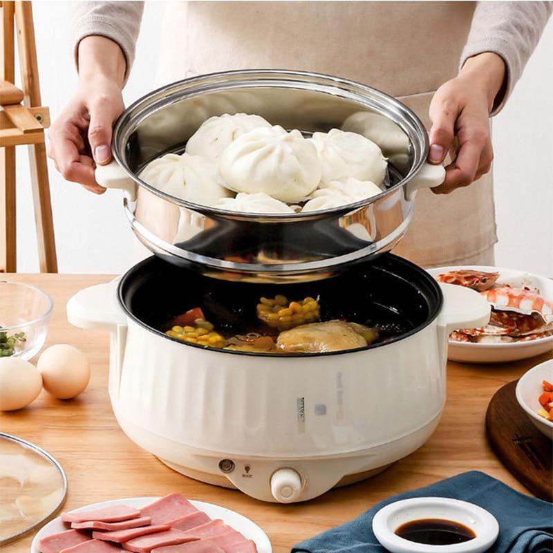 Мультифункциональная электрическая плита 220 В, электросковорода для приготовления пищи, аппарат для приготовления кастрюль, лапши, яиц, суп...