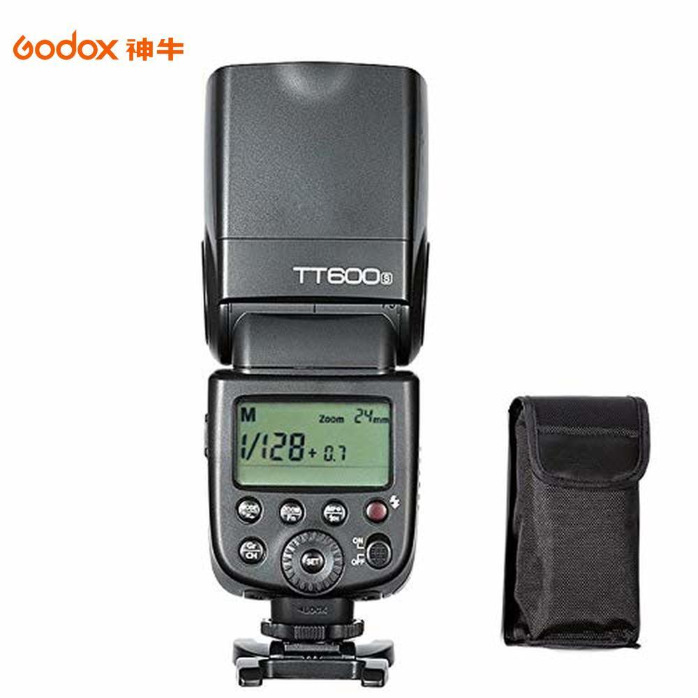 Godox TT600 HSS 1/8000s sincronización a alta velocidad construido en 2,4G de Flash inalámbrico Speedlite luz Compatible para DSLR cámara Digital