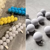 40mm decor painting ball gray miyakes style designer accessories diy party decor dolls handicrafts photo props