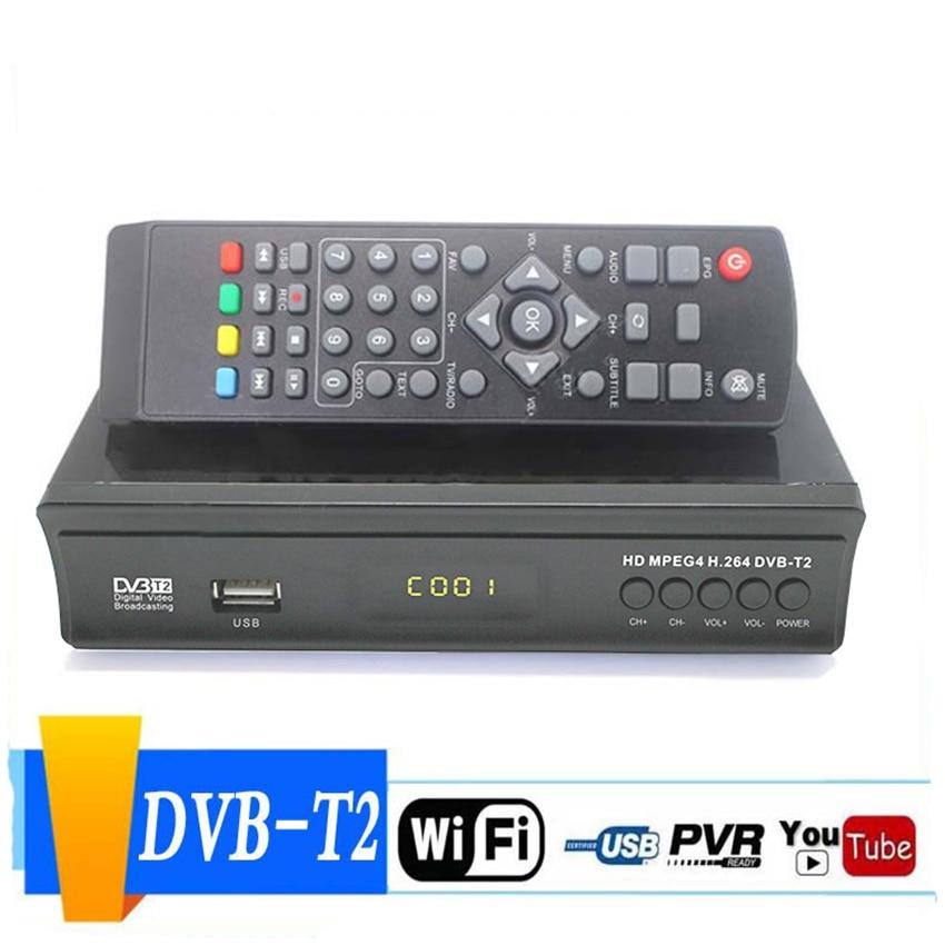 DVB-S2 HD 1080P HD TV receptor de satélite convertidor de TV Digital caja de Video juego de decodificador Top Box con Control remoto HDMI Coaxial