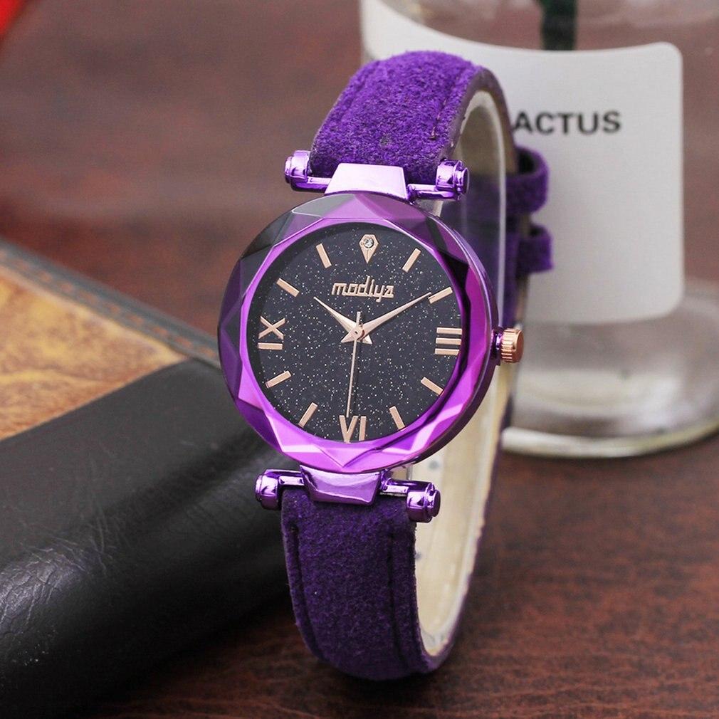 Modificya novo relógio de pulso diamante star, relógio feminino pd444 casual, relógios de moda, caixa redonda, presente para mulheres, dropshipping