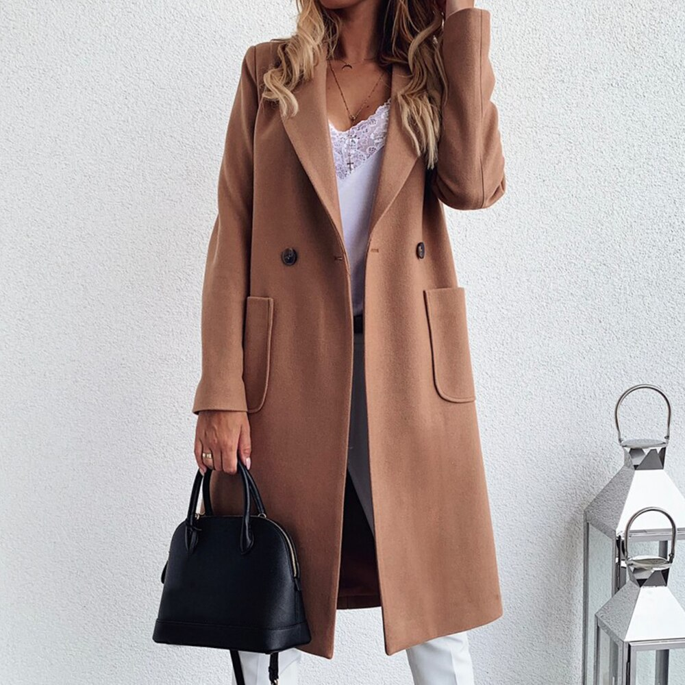 Outerwear Office Ladies Causal Long Overcoat Autumn Winter Casual Solid Jacket Fashion Women Trench Coat Plus Size Coats autumn coats jacket women zipper hooded basic jacket overcoat ladies street coat casual winter female outwear pink plus size 6xl