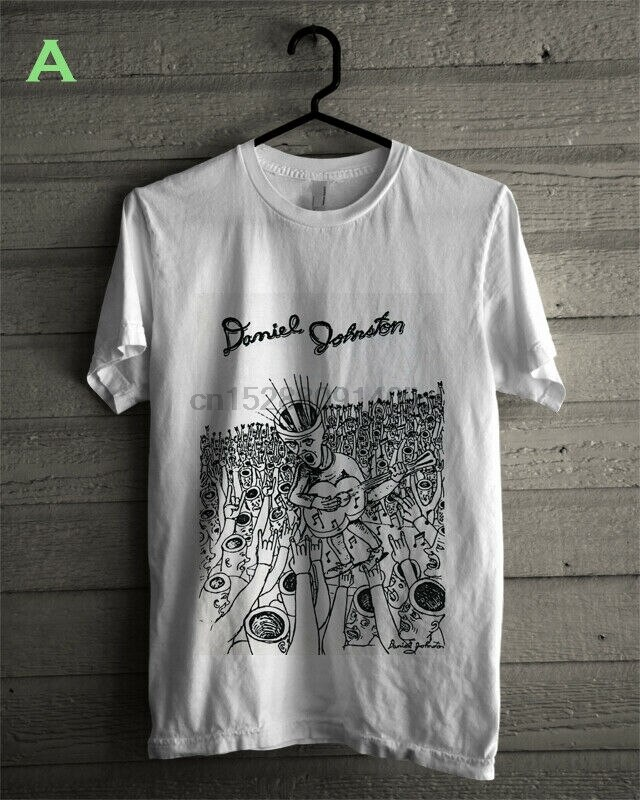 Daniel johnston arte t camisa tamanho S-3Xl branco