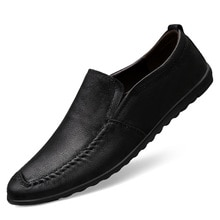 Men Oxfords Leather Shoes Comfortable Formal Dress Men Flats  Loafers Slip On Moccasins Casual Drivi
