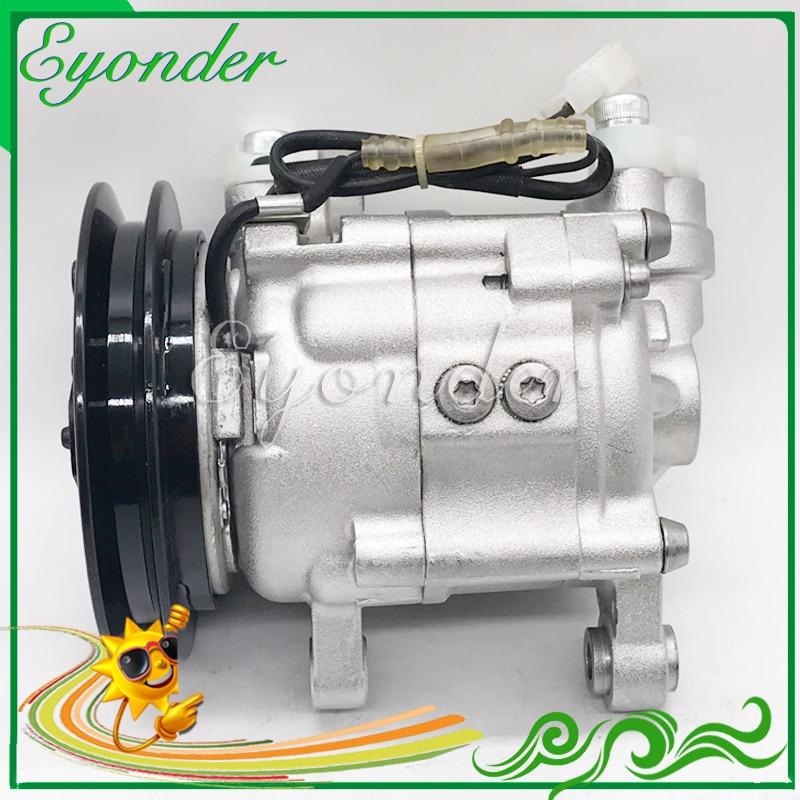AC A/C climatiseur compresseur pompe de refroidissement 12V PV1 DKV07F DKV07G pour Yanmar tracteur 5060215540