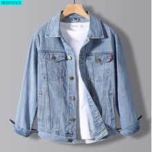 2021 Spring New Men's Denim Jacket Male Korean Version of The Trend Handsome Outer Clothes Student J