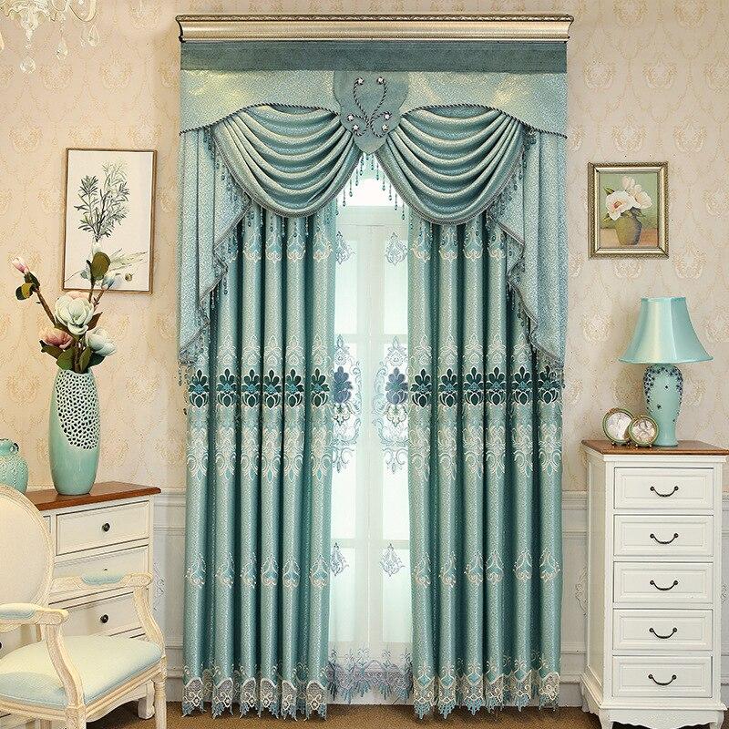 Sombreado de terciopelo nórdico Soluble en agua, cortinas de Jacquard para sala...