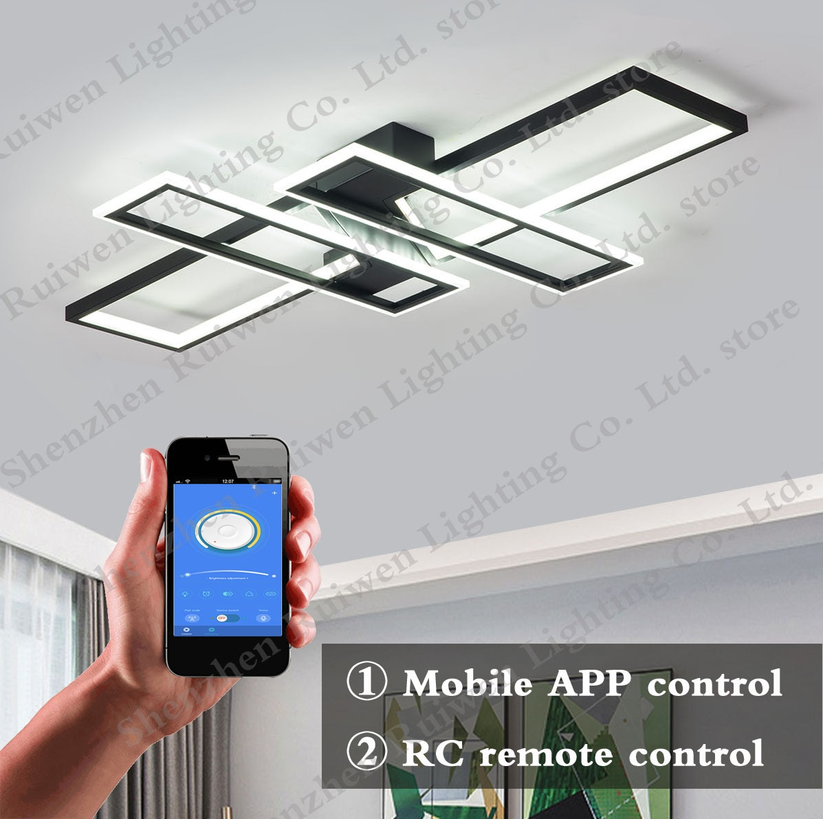 led ceiling lights for living room nordic chandeliers bedroom indoor lighting lamp panel shades RC Dimming
