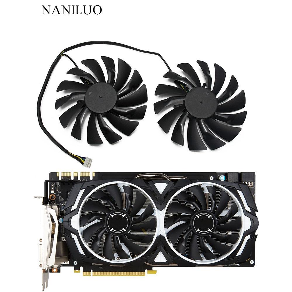 2 шт./лот P104-100 MINER GTX 1080/1070/1060 вентилятор для msi GTX1080 GTX1070 ARMOR 8G OC GTX1060 графическая карта GPU Вентиля