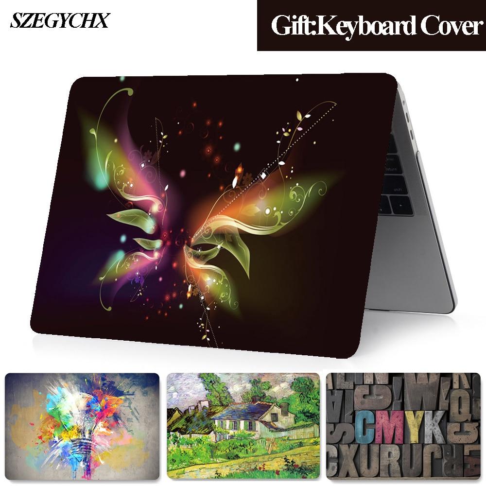 Caso do portátil para macbook pro 13 capa a2289 pro 15 11 12 16 polegada a2141 para macbook air 13 a1932 a2179 caso + teclado capa