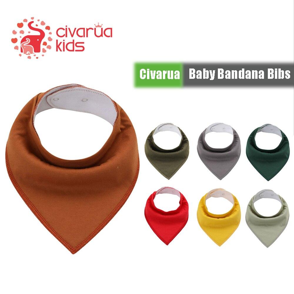 Baberos para niños y niñas de Civarua, Bandana absorbente de algodón súper suave para babear y morder, regalos para Baby Shower