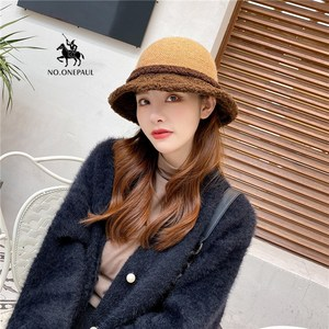 NO.ONEPAUL  New wool ladies hat autumn and winter dome hat all-match fashion small brim fisherman hat multi-color new hat women