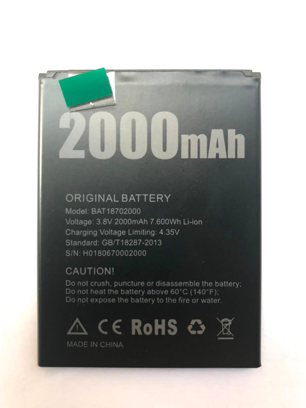Original New Doogee X50 Battery 2000mAh Polymer Li-ion 3.8V Batteries For Doogee X50 Phone BAT18702000