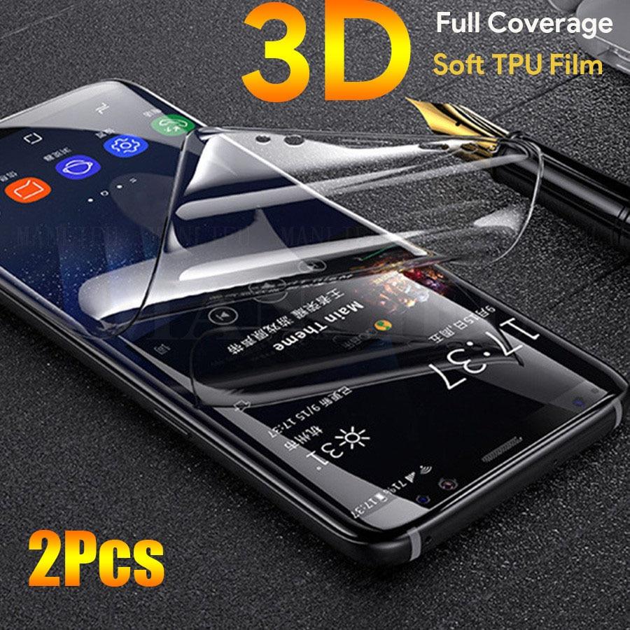 2 pçs 3d macio silicone hidrogel filme para motorola moto g7 g5s g8 plus protetor de tela capa completa para moto um g7 g6 g5 z3 jogar