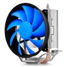Deep cool GAMMAXX 200T 2 caloduc refroidisseur de processeur 120mm 4pin PWM ventilateur silencieux pour intel LGA 775 115X AMD AM3 AM2 pour le refroidissement du processeur