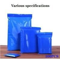 blue pe ziplock bag size thickened powder packaging bag zipper ziplock bag dust bag small object storage bag reusable bag
