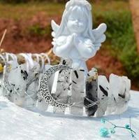 raw quartz crystal headband headpiece natural stone moon star crown hair headress boho bridal wedding comb hair accessories