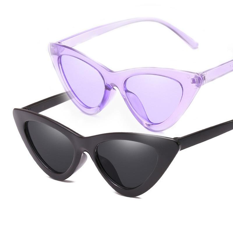 1pc Vintage Cateye Goggles Sunglasses Women Sexy Retro Small Cat Eye Sun Glasses Brand Designer Colo