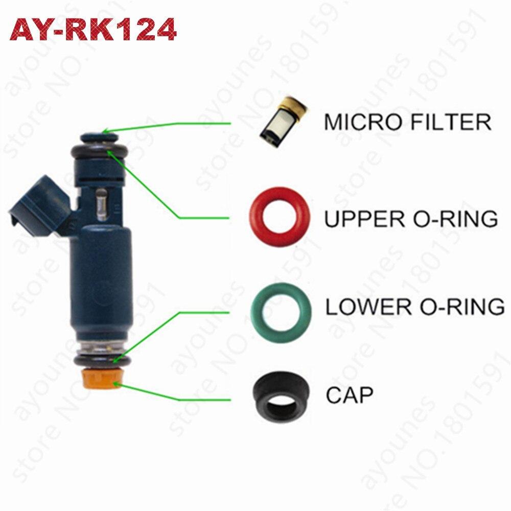 40 conjuntos de kits de reparação injector combustível para nissan altima sentra 2.5l kits de serviço de carro para peças #166008j010 1955004390 para AY-RK124